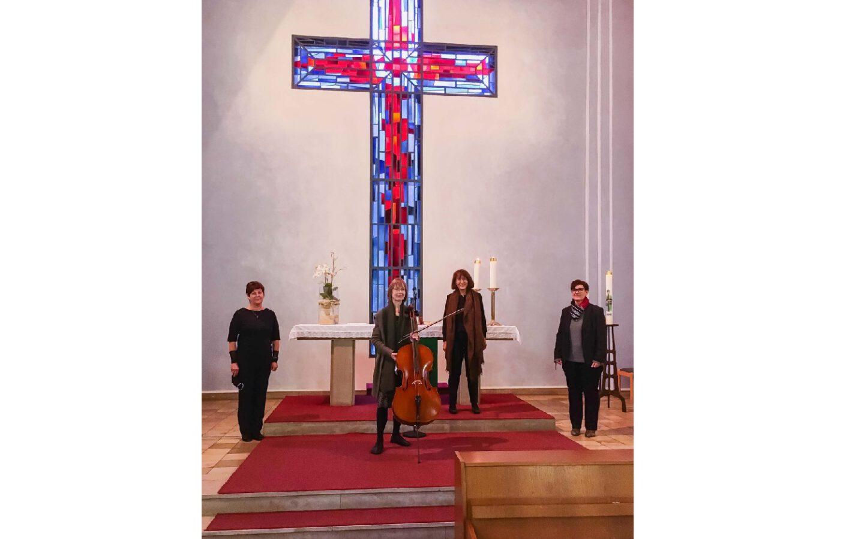 Quartett begleitet den Vorabend-Gottesdienst in Crange