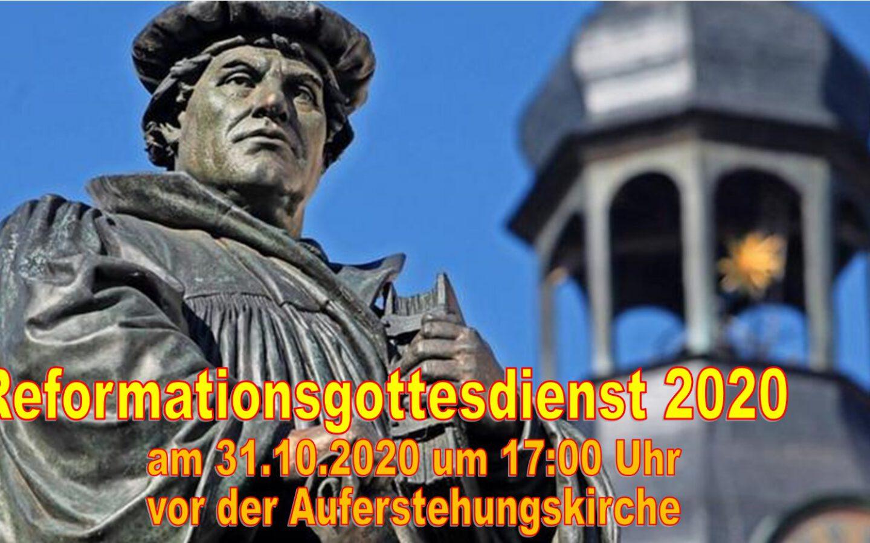 Reformationsgottesdienst vor der Auferstehungskirche