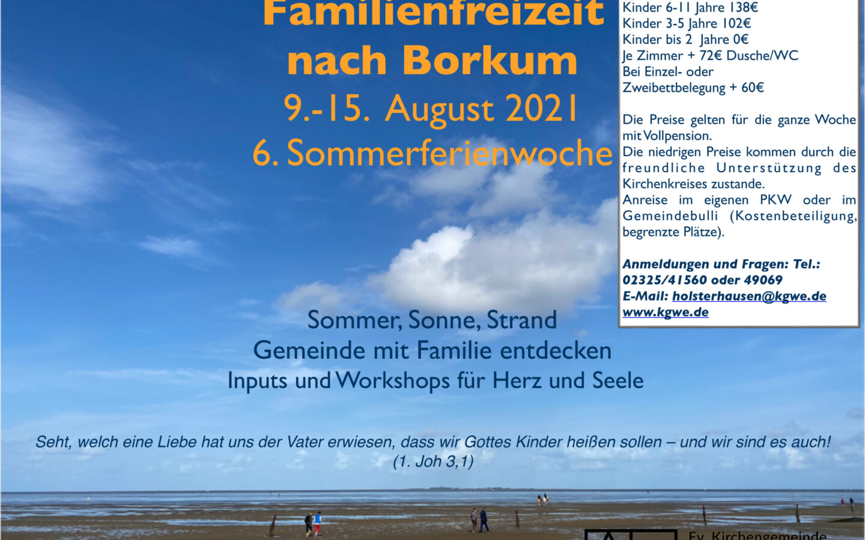 Wie wäre es im Sommer mit einer Familienfreizeit am Meer?
