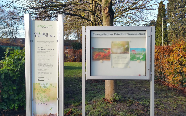 """Friedhof Wanne-Süd, ein """"Ort der Hoffnung"""""""