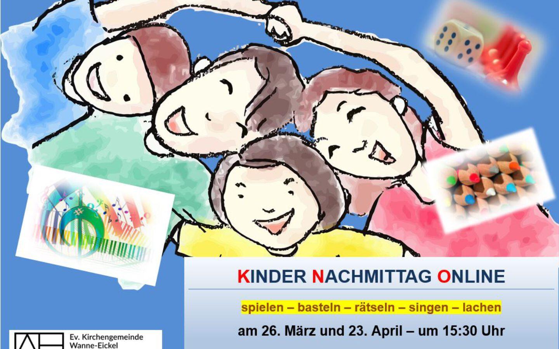 Kinder–Nachmittag–Online am 26. März