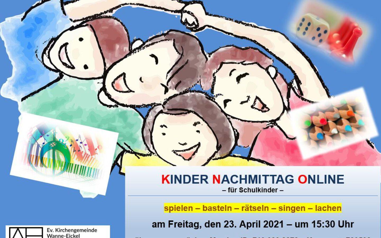 Kinder–Nachmittag–Online am 23. April 2021
