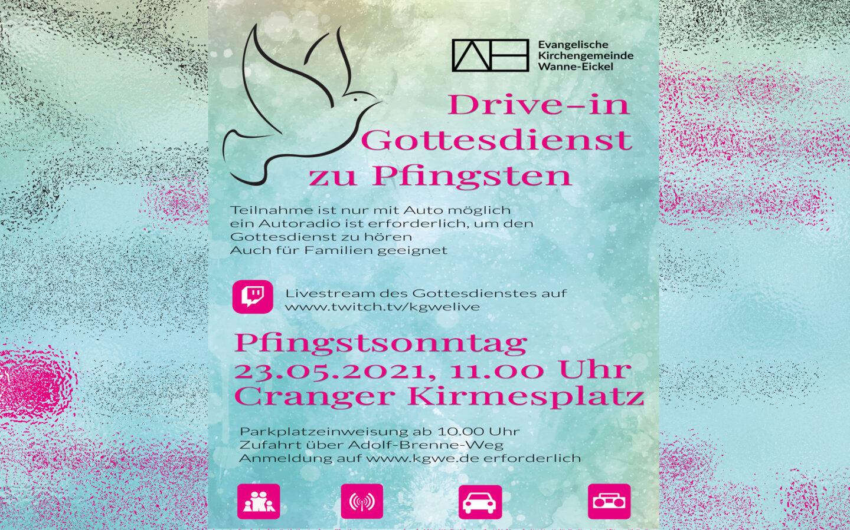 Drive-In-Gottesdienst zu Pfingsten – Anmeldungen ab sofort möglich.