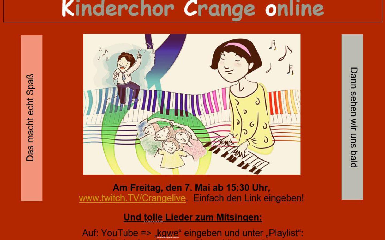 Kinderchor Crange Online am 7. Mai