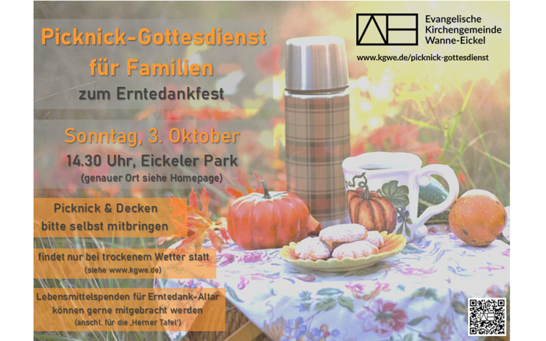 Picknick-Gottesdienst für Familien an Erntedank